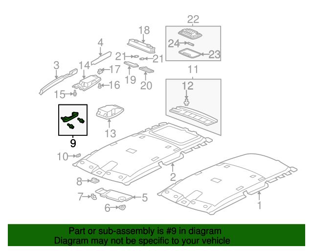 Genuine Hyundai 85337-1E000 Ceiling Assist Handle Mounting Bracket Assembly Left Rear