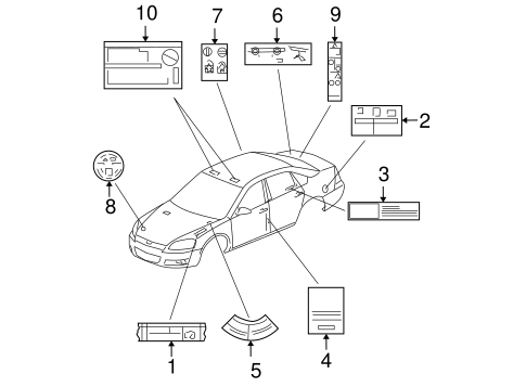Oem 2014 Chevrolet Impala Limited Labels Parts