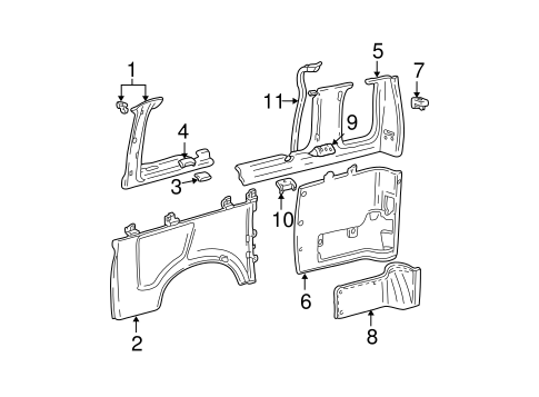 Body/Interior Trim - Side Panel for 2005 Ford E-350 Super Duty #1