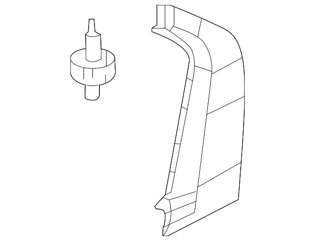 2012 2015 Honda Garnish L Rear Door Pillar 72761 Tr3 A00
