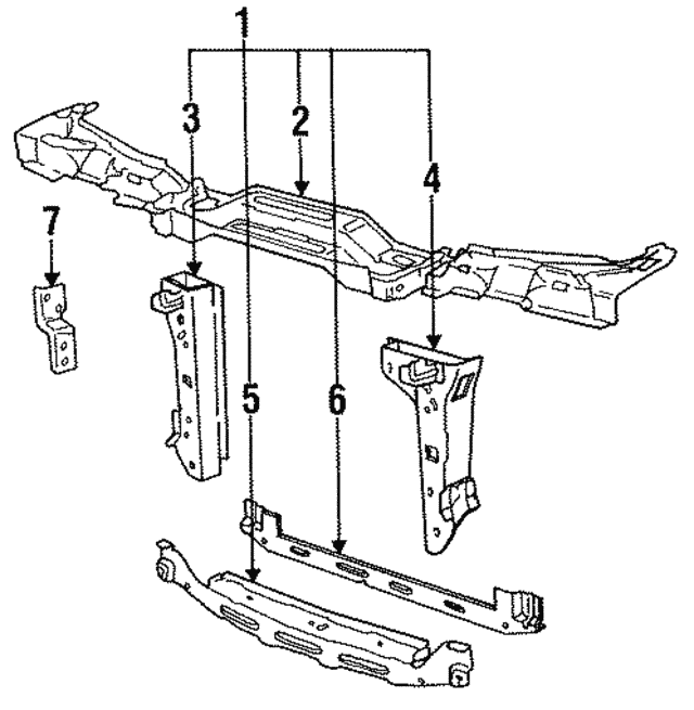 1984 1987 Bmw Support Assembly 41 13 1 935 805