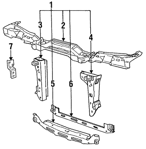 Radiator Support for 1988 BMW 325i #0
