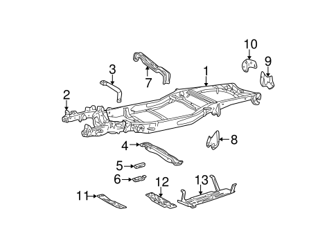 f 150 frame diagram oem 1997 ford f 150 frame   components parts  oem 1997 ford f 150 frame   components