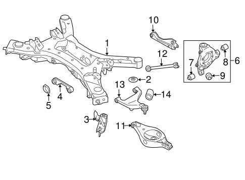 Rear Suspension/Rear Suspension for 2014 Nissan Pathfinder #1