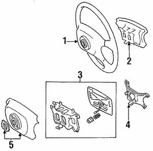 Toyota 69077-95D00-06 Door Lock Control Knob Sub Assembly