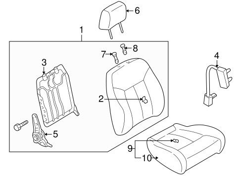 Front Seat Components For 2003 Mazda Protege5