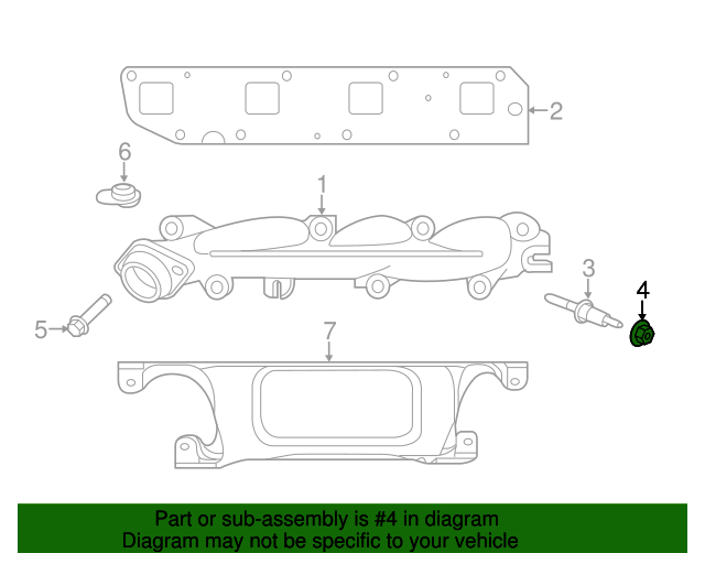 Mopar Exhaust Manifold Nut 6505316aa Ron Tonkin Dodge Parts. Exhaust Manifold Nut Mopar 6505316aa. Dodge. Diagram 2007 Dodge Charger Exhaust Manifld At Scoala.co