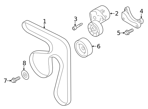 Belts Pulleys For 2019 Subaru Forester