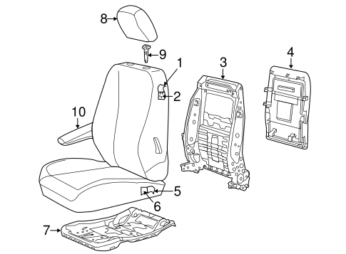 Front Seat Components For 2010 Dodge Grand Caravan
