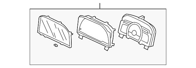 Honda Genuine 78200-SVB-A02 Combination Meter Assembly