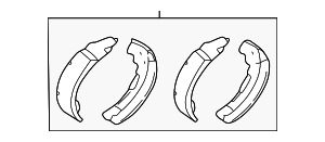 Brake Shoes - Ford (2U2Z-2V200-NARM)