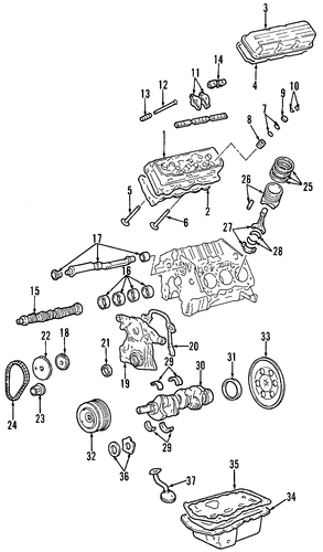 oem oil pump for 2000 pontiac bonneville | gmpartscenter.net 98 pontiac bonneville engine diagram