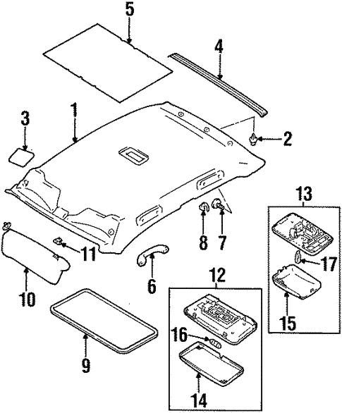 interior trim roof for 1999 suzuki esteem world oem parts subaru Subaru GL Float body interior trim roof for 1999 suzuki esteem 1