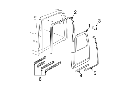 Door & Components for 2018 Chevrolet Express 2500 #2