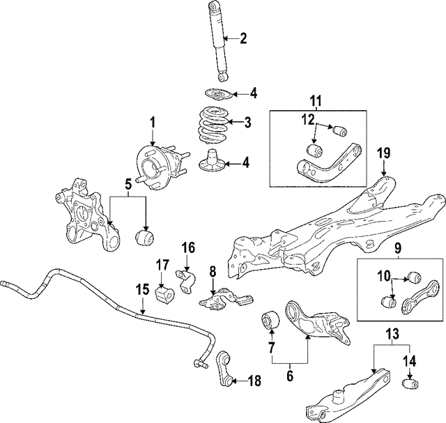2004 2007 Chevrolet Malibu Trailing Arm 15292405