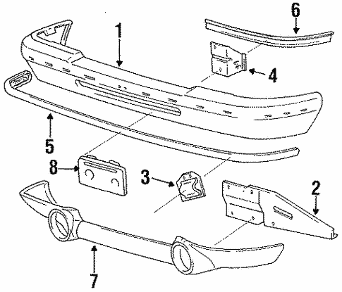 Body/Bumper & Components - Front for 1997 Ford Ranger #2