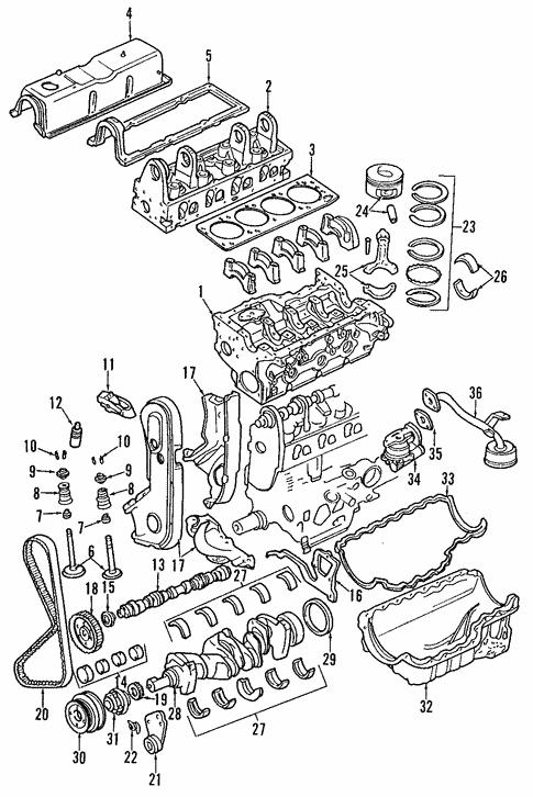 Genuine Oem Engine Parts For 1994 Mazda B2300 Base