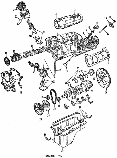 Engine Parts for 1994 Ford F-350 | OEM Ford Part | Ford F 350 Engine Schematics |  | OEM Ford Parts
