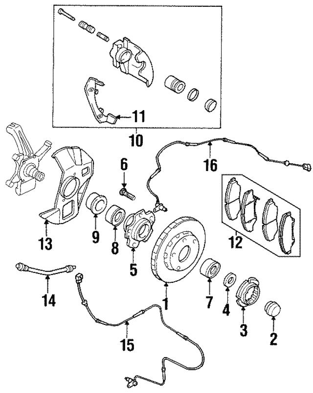 1995 2002 Kia Sportage Brake Hose 0k011 43830c