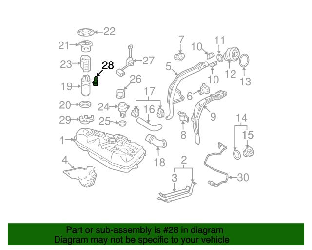Fuel Pressure Regulator Toyota 23280 22010
