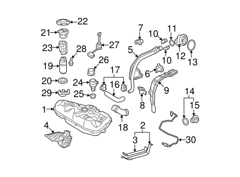 FUEL SYSTEM/FUEL SYSTEM COMPONENTS for 2005 Toyota Corolla #2