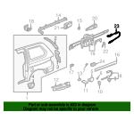 Genuine Honda 74380-S0X-A01 Slide Door Stopper Sensor Fuel Lid Switch Cable