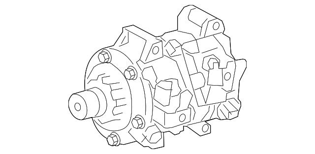 2011 2014 Toyota Compressor Assembly 88320 08150