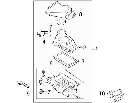 air intake for 2008 lincoln mkx oemfordpart. Black Bedroom Furniture Sets. Home Design Ideas