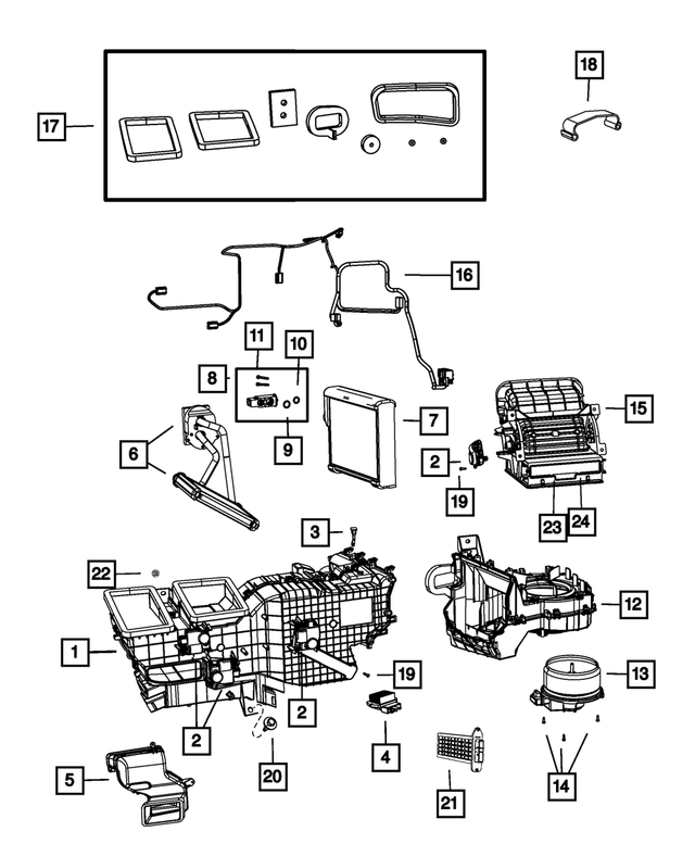 Distribution Housing - Mopar (68048891AF)