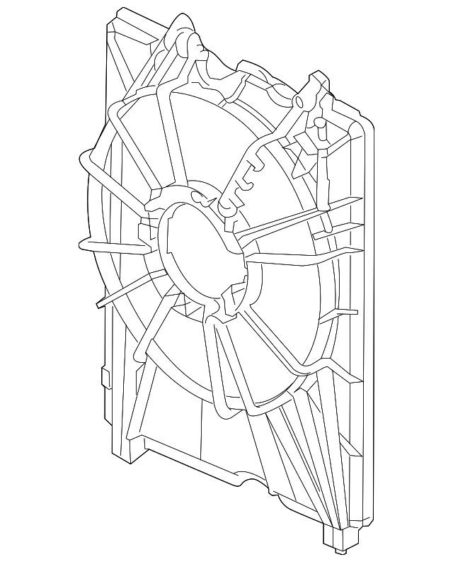 2019-2020 Acura RDX 5-DOOR Shroud 19015-5YF-A02
