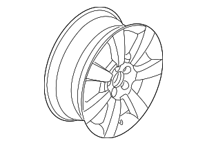 Wheel, Alloy - Volkswagen (1C0-601-025-AB-8Z8)