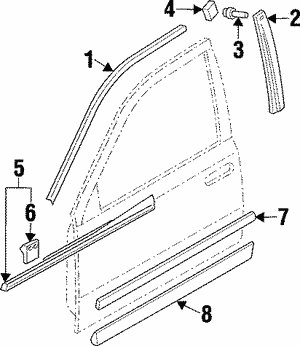 Belt Weather-Strip Clip