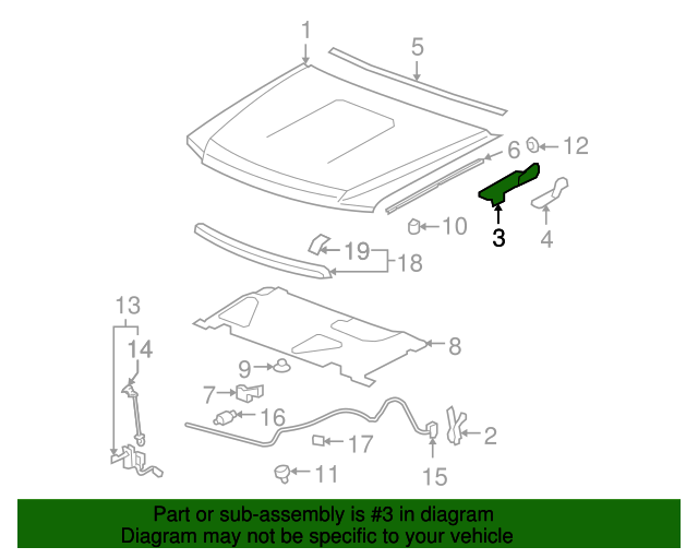 hinge assembly   gm 15243848