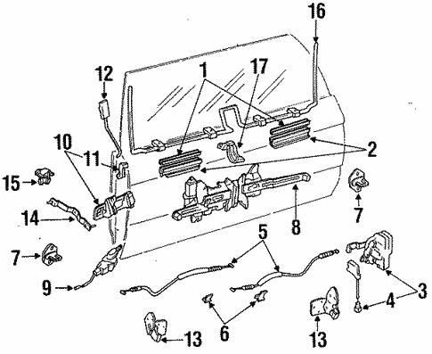 Toyota 4runner Rear Tailgate Diagram On Toyota Tailgate Parts