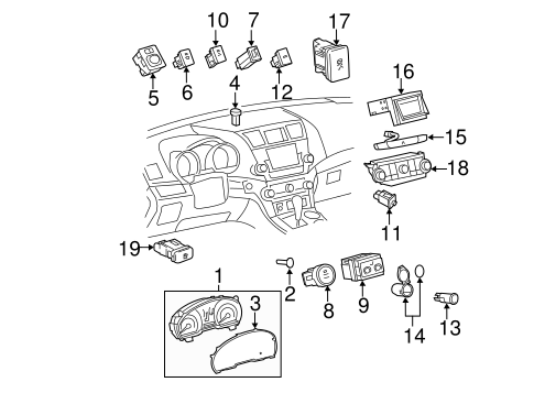 Genuine OEM Liftgate Parts for 2008 Toyota Highlander Hybrid ... on lift master sensors wiring-diagram, electric gate wiring-diagram, lift master gate openers, lift master safety sensor diagram,