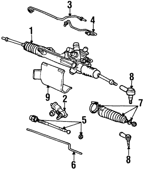Steering Gear & Linkage For 1999 Lincoln Continental