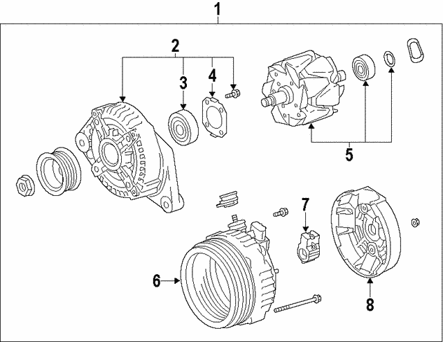Alternator - Toyota (27060-0T041-84)