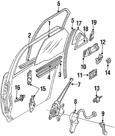 Genuine Oem Rear Door Parts For 1992 Toyota Corolla Le