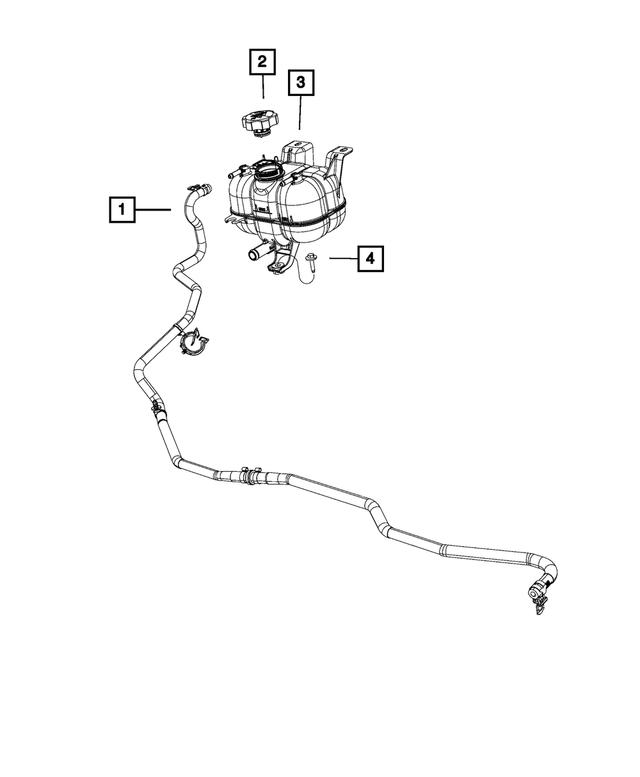 Chrysler Dodge Jeep Engine Radiator Coolant Recovery Bottle Cap 68249136AA