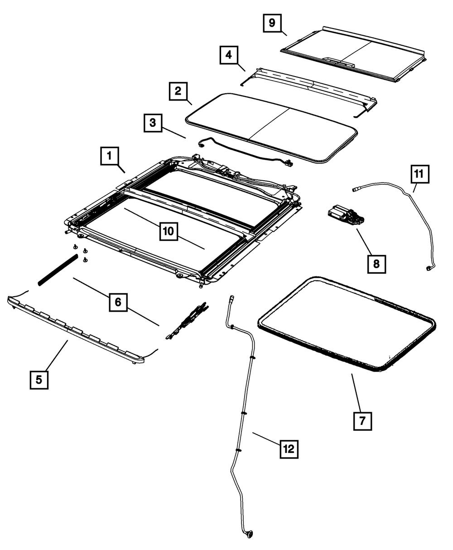 Genuine Mopar Cobre-mecanismo De Teto Solar 5174220AA