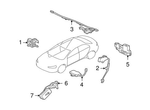 Anti Theft Components For 2008 Mitsubishi Lancer Es