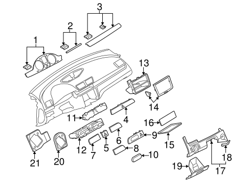 Instrument Panel Components For 2006 Volkswagen Passat