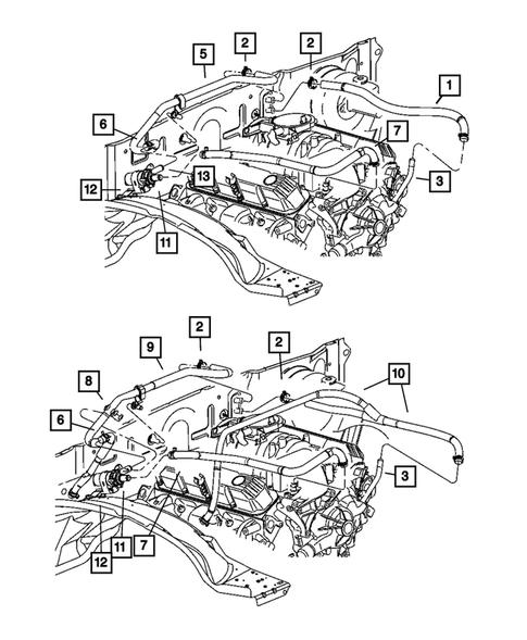 Suction Hose Assembly 56026 fits 2001 Dodge Durango A//C Refrigerant Discharge