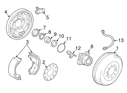 BRAKES/REAR BRAKES for 2016 Toyota Tacoma #1