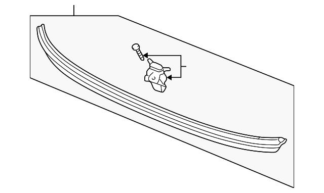 Original Molding Assembly Rear Windshield Lower For Acura Sedan Oem Part