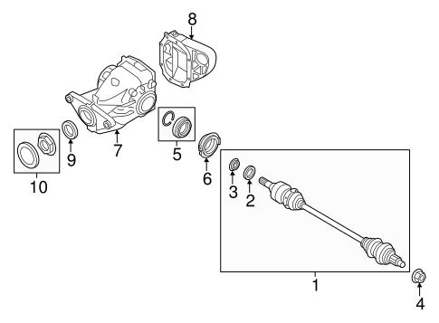 Superb Axle Differential For 2009 Bmw X5 Germain Bmw Parts Wiring Digital Resources Caliashwinbiharinl