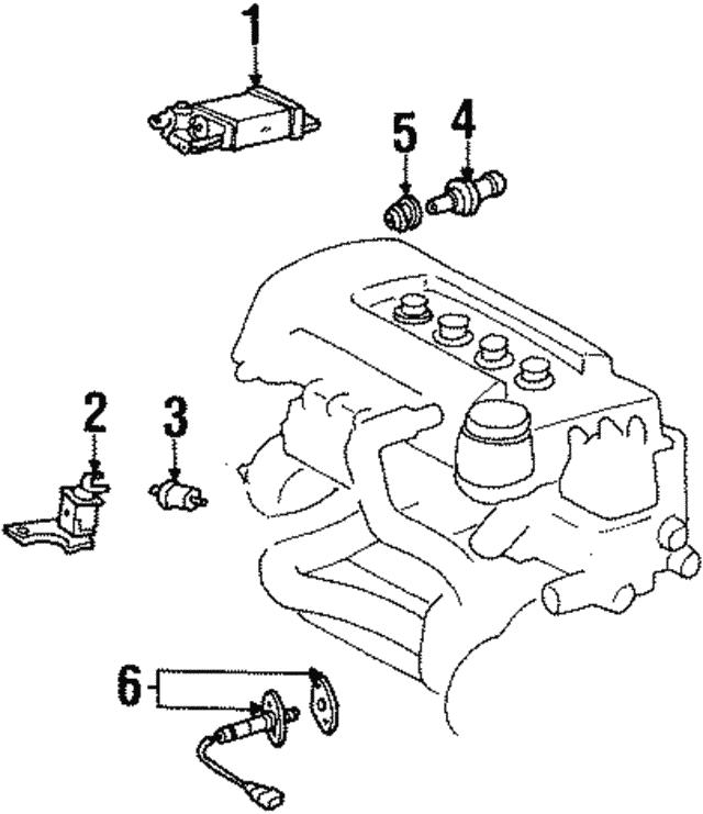 1998 1999 Chevrolet Prizm Pcv Valve 94860105