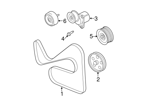 Maintenance & Lubrication/Belts & Pulleys for 2008 Ford Escape #1