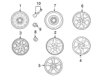Wheel, Alloy - Mazda (9965-04-7070)