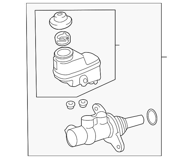 2009 2018 Toyota Rav4 Master Cylinder 47201 42340
